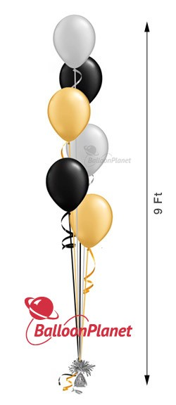11in Balloon Centerpiece Select Your Colors Cascading 6 (6 Latex)