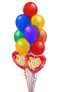 I Love You Balloon Bouquet (14 Balloons) delivered in New Delhi