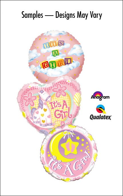 Baby Girl 18in Balloon (Designs/shapes vary)