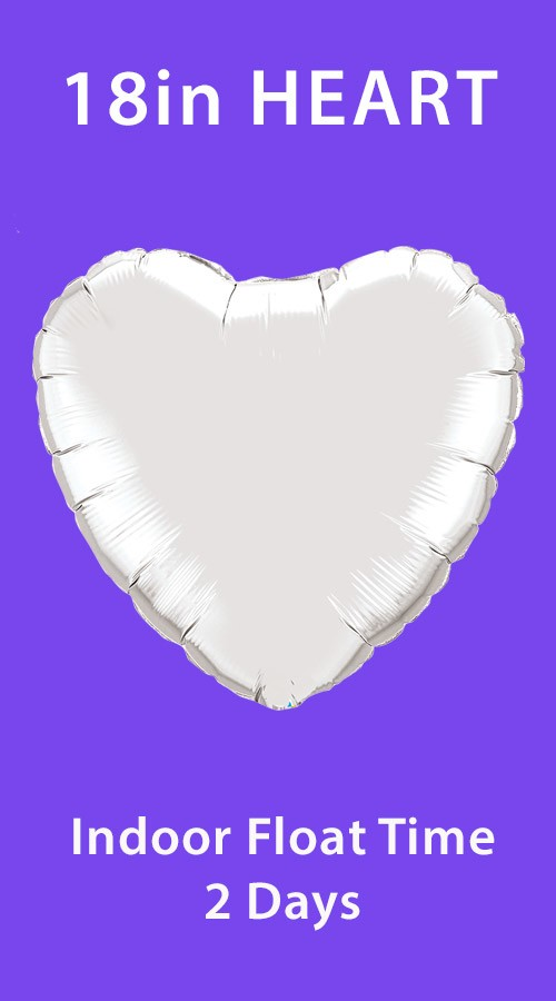 Mylar Heart 18-Inch (Standard Colors)