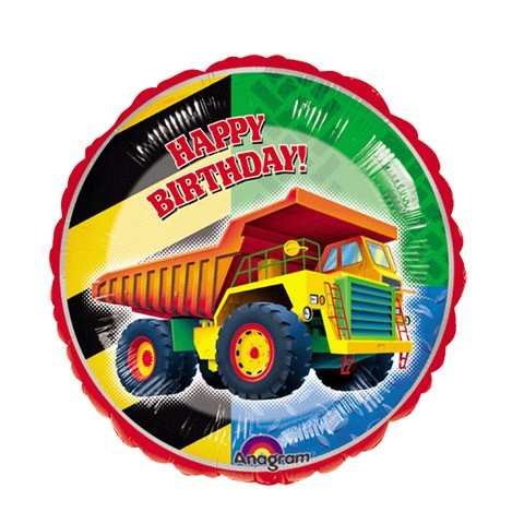 Birthday Balloon (Dump Truck Round)