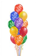 Classic Birthday Balloon Bouquet (16 Balloons) delivered in Long Beach