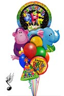 Jungle Singing Balloon Bouquet (10 Balloons) delivered in Glendale