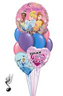Singing Princess Balloon Bouquet (9 Balloons) delivered in Charlotte