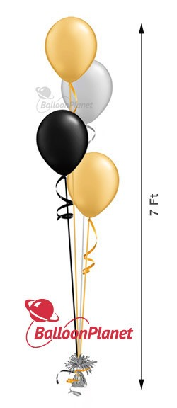 11in Balloon Centerpiece Select Your Colors Cascading 4 (4 Latex)