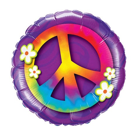 Peace Sign (18in Mylar Round)