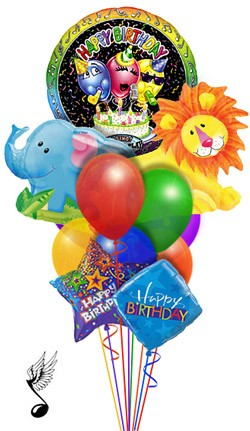 Jungle Singing Balloon Bouquet (11 Balloons)
