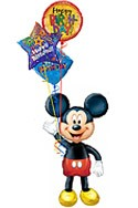 Mickey Airwalker Balloon Bouquet (4 Balloons) delivery in New Delhi
