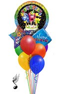 Singing Trio Combo Balloon Bouquet (11 Balloons) delivery in Melbourne