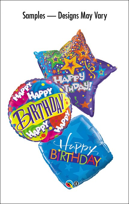 Birthday Mylar (Design/shape vary)
