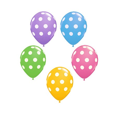 Big Polka Dot 11in (Pastels w/Hi-Float) (Price Per Balloon)