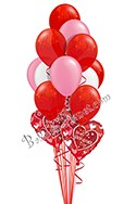 Valentine's Day Red, White & Pink Balloon Bouquet (13 Balloons) delivered in Edmonton