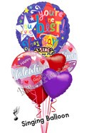 Singing Balloon BouquetSong - Simply The Best (6 Balloons) delivered in Raleigh