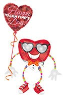 Happy Valentine's Day Heartthrob Airwalker Balloon Bouquet (2 Balloons) delivery in Anchorage