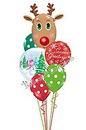 Reindeer Greetings Balloon Bouquet (6 Balloons) delivery in Amesbury
