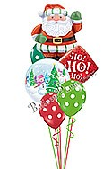Santa Ho Ho Greetings Balloon Bouquet (6 Balloons) delivery in Oklahoma City