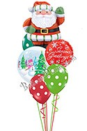 Santa Greetings Balloon Bouquet (6 Balloons) delivery in Amesbury