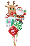 Santa & Rudolf Balloon Bouquet (6 Balloons) delivery in Oklahoma City