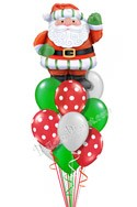 Santa Classic Colors Balloon Bouquet (12 Balloons) delivery in Oklahoma City