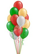 Classic Christmas Balloon Bouquet (16 Balloons) delivery in Amesbury