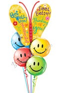 Butterfly Smiles Balloon Bouquet (5 Mylars) delivered in Redondo Beach