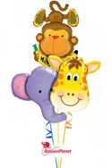 Jungle Buddies Get Well Bouquet Balloon Bouquet
