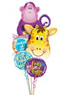 Some Zoo for You Balloon Bouquet (5 Balloons) delivered in Indianapolis