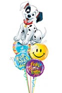 Get Well Dawg! Balloon Bouquet (5 Mylars) delivered in Las Vegas