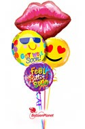 A Kiss and a Smile Balloon Bouquet (5 Balloons) delivered in Fort Lauderdale