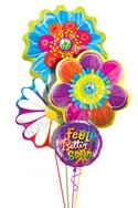 Tropical Blossoms Balloon Bouquet (4 Mylars) delivered in Chandler