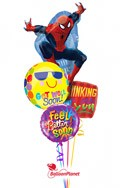 Spiderman Smiles Balloon Bouquet (5 Mylars) delivered in Brampton