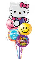 Hello Kitty Smiles Balloon Bouquet (5 Mylars) delivered in Mesa