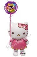 Hello Kitty Airwalker Balloon Bouquet (2 Mylars) delivered in Boynton Beach