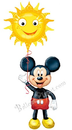 Mickey Airwalker Sun  Balloon Bouquet  (2 Mylars)