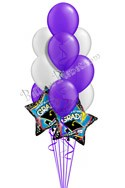 Purple & Silver Grad Balloon Bouquet (12 Balloons) delivery in Rochester