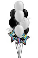 Black & Silver Grad Balloon Bouquet (12 Balloons) delivery in Pleasant Hill