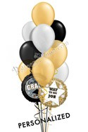 Personalized Grad Classy Bouquet (12 Balloons) delivery in Philadelphia