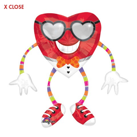 Funky Heart Guy Airwalker<br/>Balloon