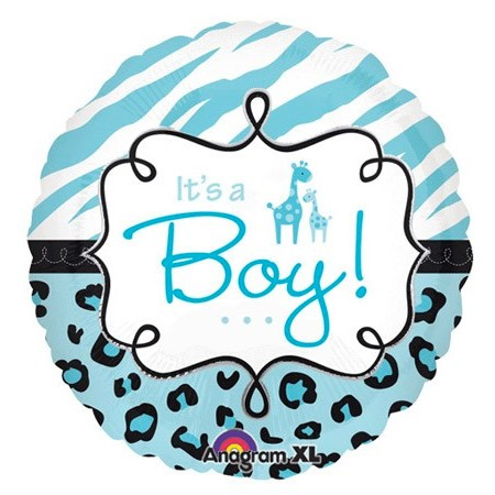 Safari Baby Boy 18in<br/>Balloon