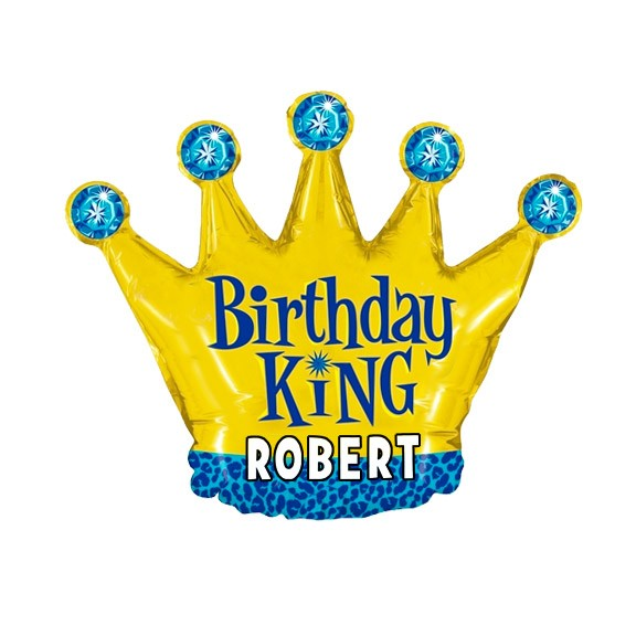 Birthday Custom Name<br>Personalized Balloon<br>King Crown