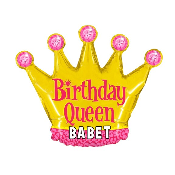 Birthday Custom Name<br>Personalized Balloon<br>Queen Crown