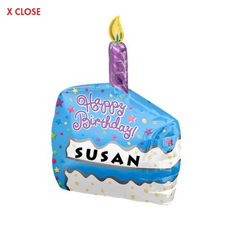 Cake Slice<br> Personalized Balloon