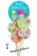Mother's Day Singing Balloon Bouquet (5 Balloons) delivery in Newark
