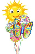 Mother's Day Sunshhine Balloon Bouquet (5 Balloons) delivery in Santa Ana