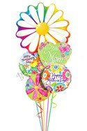 Mother's Day Daisy Balloon Bouquet (5 Balloons) delivery in Glendale