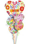 Mother's Day Floral Balloon Bouquet (5 Balloons) delivery in Glendale