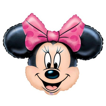 Minnie Mouse Head27in Mylar Balloon