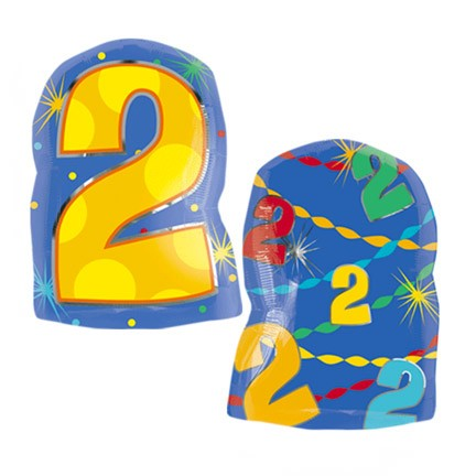 Number 2 Jr Shape<br> Balloon