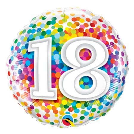 Number 18 Balloon (Design may vary)