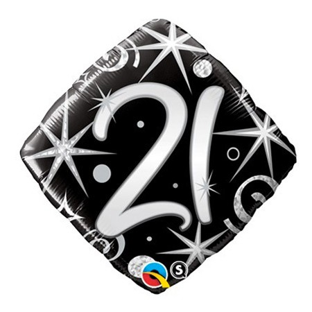 Number 21 Diamond Balloon